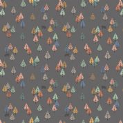 Lewis & Irene - Bear Hug - 6188 - Multicoloured Trees & Bears on Dark Grey  - A313.3 - Cotton Fabric